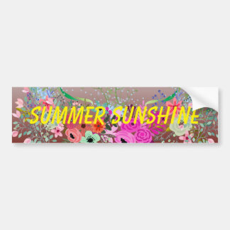 Summer sunshine and  fun  greeting cards bumper sticker