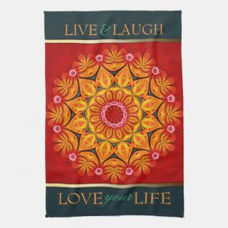 Summer Sunshine Floral Custom  Quote Towel