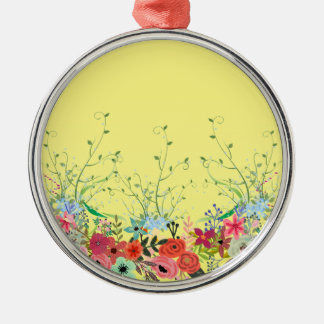 Summer sunshine fun Multi products selected Silver-Colored Round Ornament