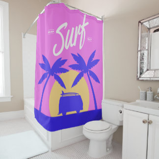 Summer Surf shower curtain