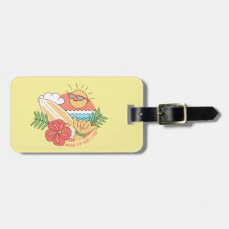 Summer Surfer custom luggage tag