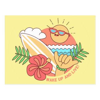Summer Surfer postcard