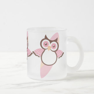 Summer Surfing Owl Frosted Mug