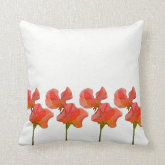 Summer Sweet Pea Throw Pillow