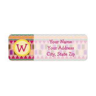 Summer Sweets Return Address Label