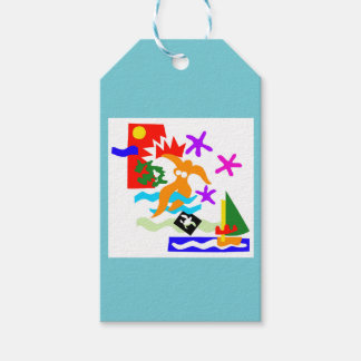 Summer swimmer - Gift tags
