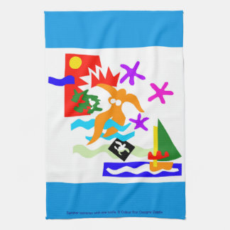 Summer swimmer - kitchen towel