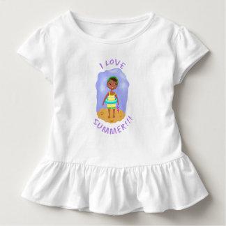Summer Swimmer w/ Text Toddler T-shirt