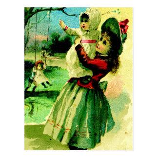 """Summer Swing"" Postcard"