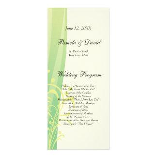 Summer Swirl Wedding Program Announcements
