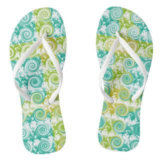 Summer Swirls Flip Flops
