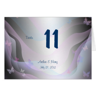 Summer  Table Number Card