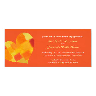 "Summer tango Engagement Invitation 4"" X 9.25"" Invitation Card"