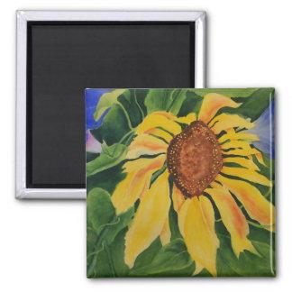 Summer Tango Sunflower Square Magnet