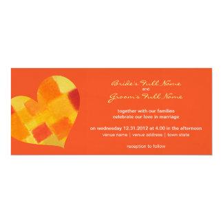 "Summer tango Wedding Invitation 4"" X 9.25"" Invitation Card"