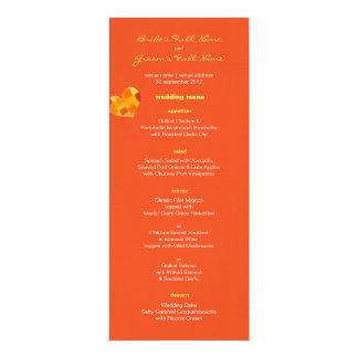 "Summer tango Wedding Menu 4"" X 9.25"" Invitation Card"