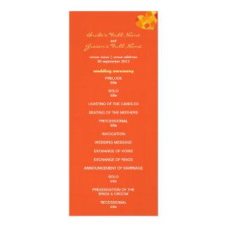 "Summer tango Wedding Program 4"" X 9.25"" Invitation Card"