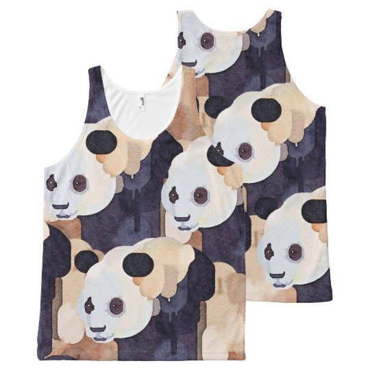 Summer Tank Top: Ice Cream Panda