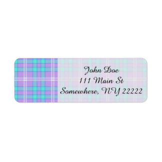 Summer Tartan Plaid Return Address Label