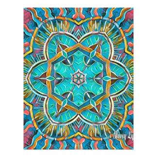 Summer Theme Kaleidoscope Letterhead