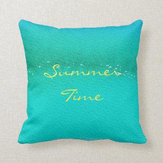 """Summer Time Blue Pillow 16"""" x 16"""""""