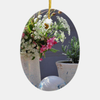 Summer Time Ceramic Oval Ornament