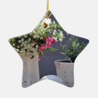Summer Time Ceramic Star Ornament