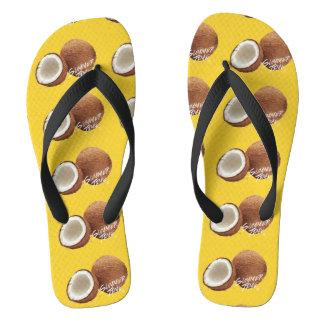 Summer time- coconut flip flops