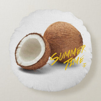 Summer time-coconut round pillow