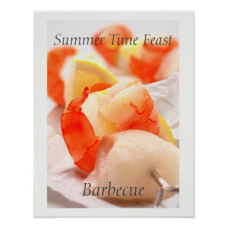 Summer Time Feast. Barbecue Poster