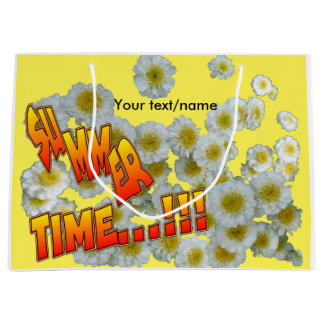 Summer Time Flowers Customizable Gift Bag