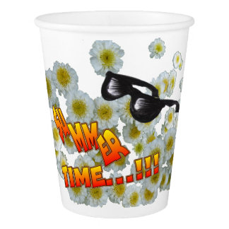 Summer Time Flowers Paper Cups Paper Cup