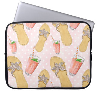 Summer Time Hand-Painted Cocktail Illustration Laptop Sleeve