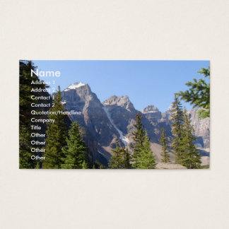 Summer Time/Mountains Business Card