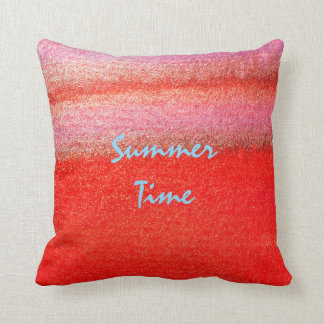 "Summer Time Red Pillow 16"" x 16"""