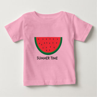 Summer Time Watermelon T-shirt Girl Boy Red Green