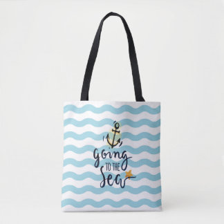 Summer Tote bag with beautiful sea elements