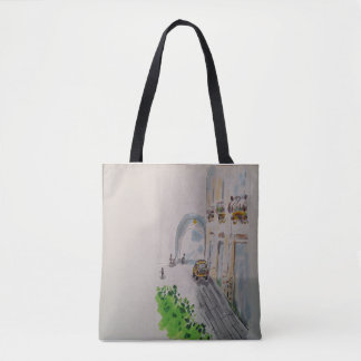 Summer town tote