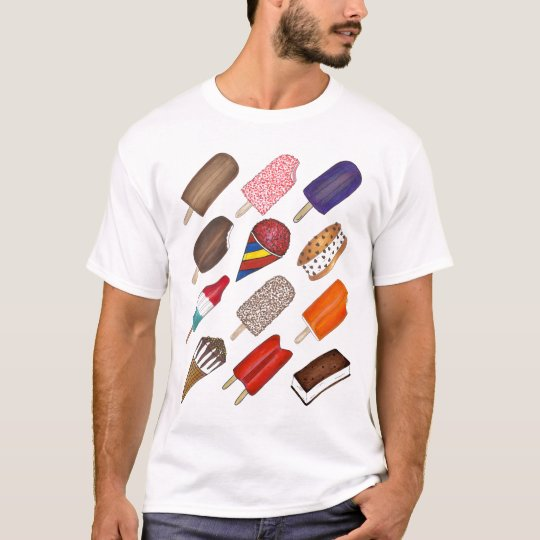 Summer Treats Ice Cream and Popsicle T-Shirt