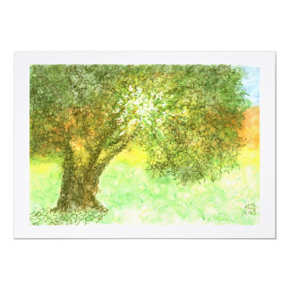Summer Tree Aleph Bat/Bar Mitzvah  Invitation