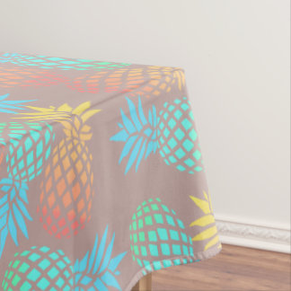 summer tropical colorful pineapple pattern tablecloth