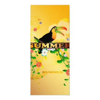 "Summer, tropical design 4"" x 9.25"" invitation card"