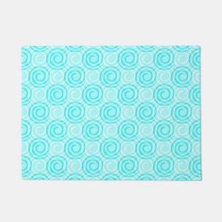 Summer Turquoise Swirls Pattern Doormat