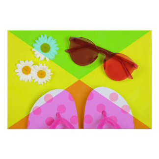Summer vacation accessories poster