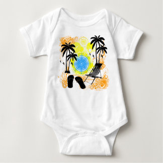 Summer Vacation Baby Bodysuit