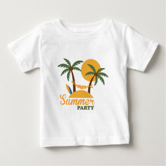 Summer vacation holiday tropical island with palm baby T-Shirt