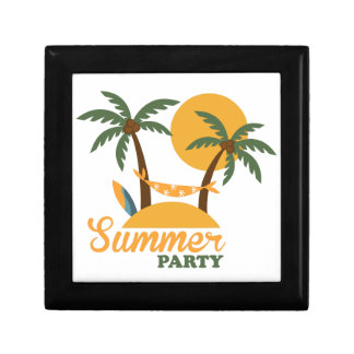 Summer vacation holiday tropical island with palm gift box