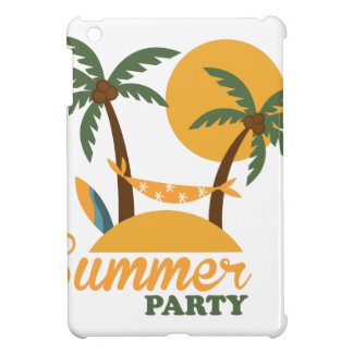 Summer vacation holiday tropical island with palm iPad mini case