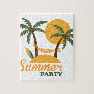 Summer vacation holiday tropical island with palm jigsaw puzzle