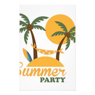 Summer vacation holiday tropical island with palm stationery